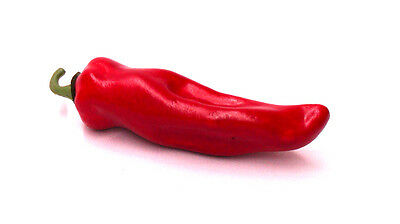 Artificial Chili Pepper Red Large - Plastic Decorative Vegetable Peppers Fake