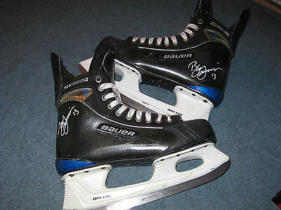 Bill Guerin Autographed Game Used Worn 2008-09 Pittsburgh Penguins Bauer Skates