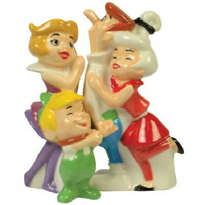 The Jetsons TV Series Family Group Figures Ceramic Salt and Pepper Set, UNUSED