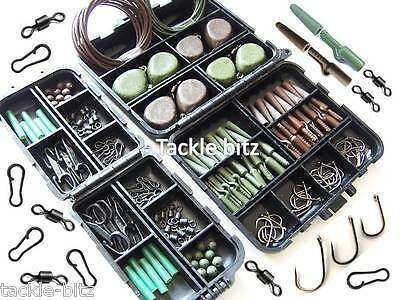 Carp Fishing Weights Tackle box bundleTackle safety clips swivels For Hair Rigs
