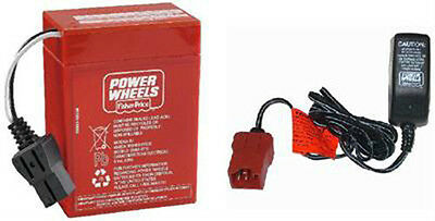 00801-1779 6 Volt Red Battery & Charger Combo Power Wheels 6V Fisher Price