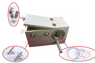 Bird Breeding Nest Box DIY Kit Parrot Cage Fitting Nesting Lock Anti-bite Ring U