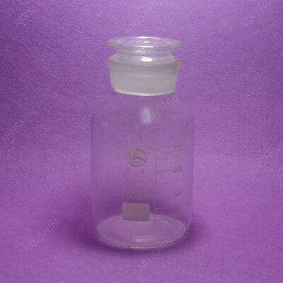 1000mL Reagent bottle, wide mouth, with ground stopper and scale,lab glassware