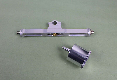 """aluminum 5"""" width T-bar With Oil Cup for 1/4"""" cable / shaft support for rc boats"""