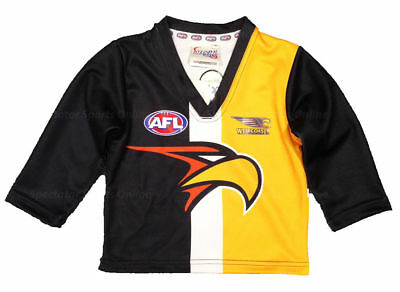 Official AFL West Coast Eagles Baby Toddler Footy Football Jumper Guernsey