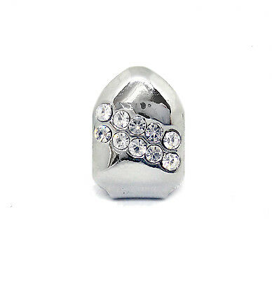Single Grillz Backslash of Ice hiphop bling CHROME / SILVER Tooth Clip