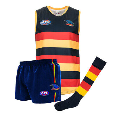 Official AFL Footy Adelaide Crows Kids Youth Auskick Jumper Guernsey Shorts Sock