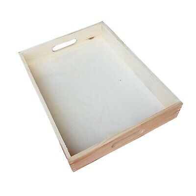 Plain Wood - Wooden Serving Tray 40cmx30cmx 6.3cm Decoupage