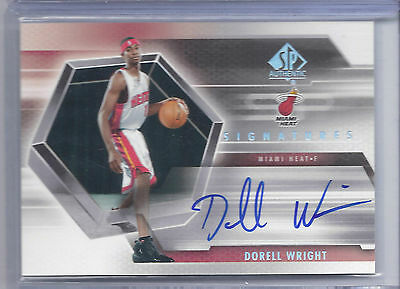 2005-2006 SP Authentic Basketball Dorell Wright SP Signatures Autograph Card
