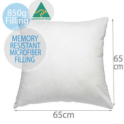 AUS MADE PREMIUM MEMORY RESISTANT EUROPEAN PILLOW CUSHION INSERT 65x65cm