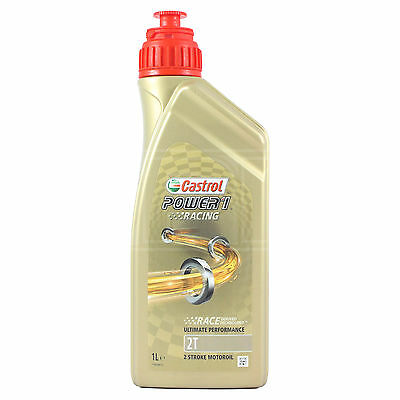 Castrol Power 1 Racing 2T Fully Synthetic 2 Stroke Motorcycle Oil 1 Litre 1L