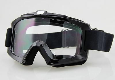 FLY RACING FOCUS Motocross ATV MX Off-Road Goggles Black frame Clear lens