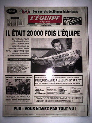 L'equipe Magazine 11 Avril 2009 Special N°20000 L'equipe
