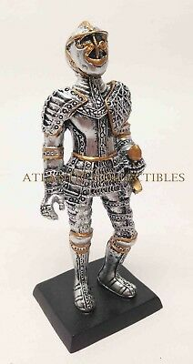 "Elite Guard Statue Medieval Knight of Valor Crusader 4"" Tall Figurine Miniature"