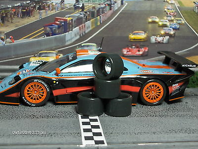 """SOFT"" URETHANE SLOT CAR TIRES 2pr PGT-19125LM fit Slot.it & CBD 17x10"