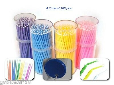 Dental Disposable Micro Applicator Brushes for bonding,etching,fluoride 400 pcs