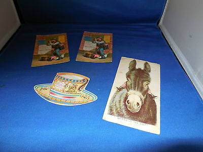 Lot of 4 Nice Victorian Trade Cards for Coffee/Tea