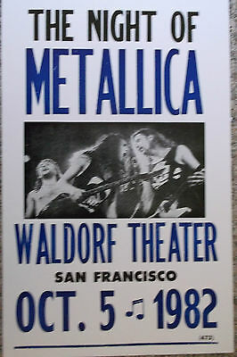 Metallica playing at The Waldorf Theater Poster