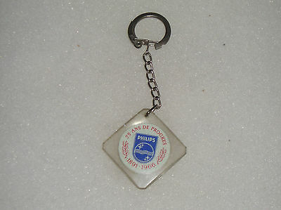 Vintage French Keychain Promotion Philips 1891-1966 Key Chain