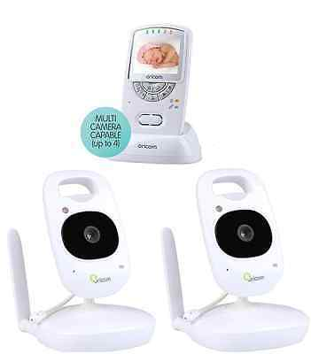 New Oricom Secure 710-2 Twin Camera Wireless Video 2.4Ghz Baby Monitor+Babies