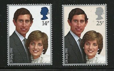 Great Britain Scott #950-51, Singles 1981 Complete Set FVF NMH