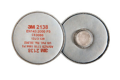 3M 2138 2000 Series Particulate Dust & Vapour Filters With Charcoal P3