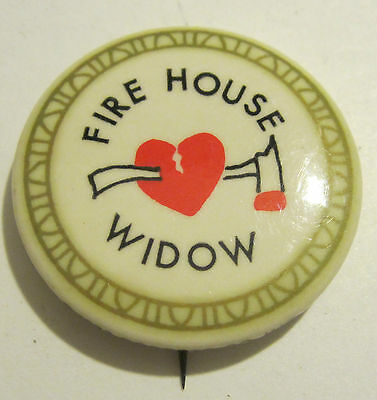1973 Roberts Co Inc Fire House Widow Pinback / Pin / Button