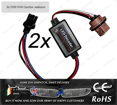 2x OBC Load Resistor CanBus No Error Warning Canceller 7443 7440 580 W21/ 5W