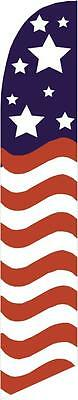 American Glory (stars top) 12ft Feather Banner Swooper Flag - FLAG ONLY