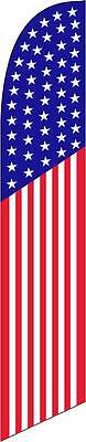 American Flag 50 stars 12ft Feather Banner Swooper Flag - FLAG ONLY