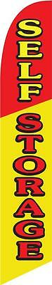 Self Storage 12ft Feather Banner Swooper Flag - FLAG ONLY