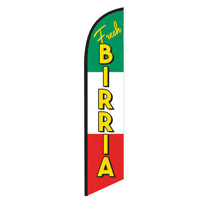 Fresh Birria 12ft Feather Banner Swooper Flag - FLAG ONLY