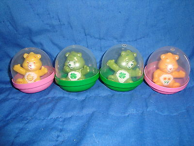 Care Bears PVC Lot 4 Pcs Gumball Vending Machines Great as Cake Toppers