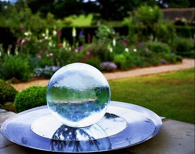 Sphere Water Fountain, 5ft (Other Sizes Available), Stainless Steel & Acrylic