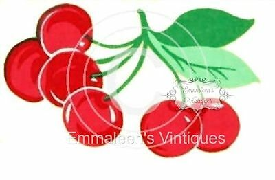 ~Vintage Image Shabby Fruit Cherry Cherries Waterslide Decals~ FRU719