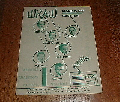 WRAW Orig 1964 Reading, PA TOP 40 Music Survey w 6 BEATLES songs NM-