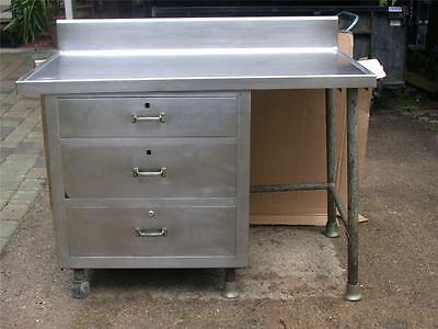 Heavy Gauge Stainless Steel Commercial Restaurant Prep Preparation Table Drawers