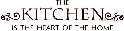 The Kitchen Is The Heart Of The Home - Vinyl Wall Decal - Kitchen Decal