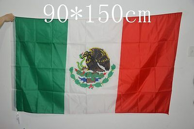 2 pcs of Mexico Mexican Flag 3x5 feet celebration/decoration hanging 90x150cm