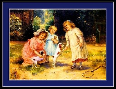 English Jack Russell Terrier Dogs Art Print Picture