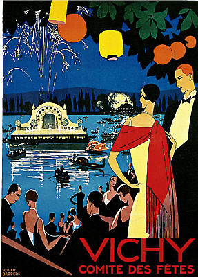 vichy VINTAGE TRAVEL POSTER louis tauzin france 1911 24X36 refined HOT NEW!