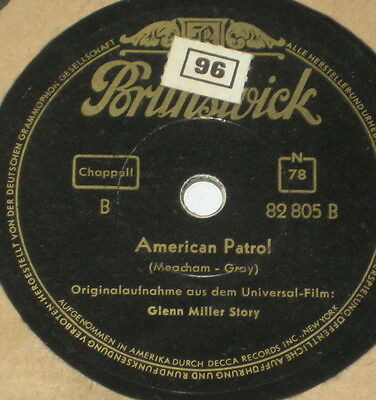 78rpm/Brunswick 82805/GLENN MILLER/ST LOUIS BLUES MARCH/AMERICAN PATROL