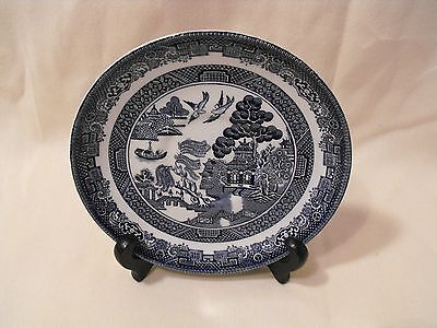 Johnson Brothers   Blue Willow Saucer  Made in England  No. 17