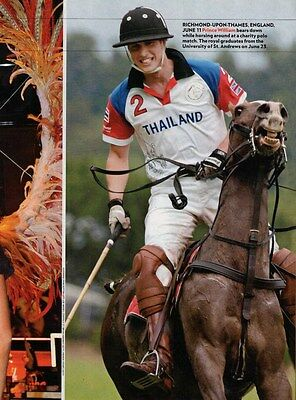 PRINCE WILLIAM  (Playing Polo)  --  2005 Magazine Picture Clipping   vg