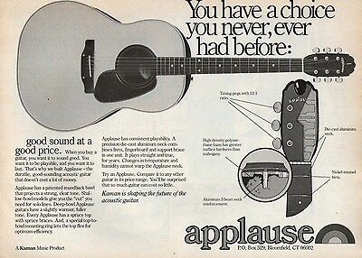 APPLAUSE GUITARS  --  1978 Magazine Print Ad Clipping   vg