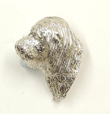Bearded Collie Silver Lapel Pin