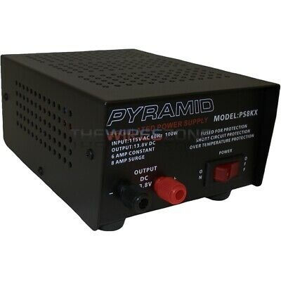 Pyramid PS8KX AC-DC Converter 8 Amp 12V Fully Regulated Low Ripple Power Supply