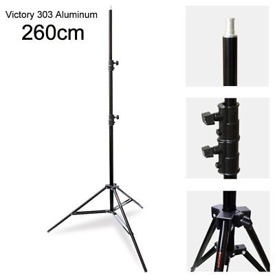 Victory 303 Al 260cm Heavy Duty Spring Cushion Foldable Light Stand Up To 8KG AU