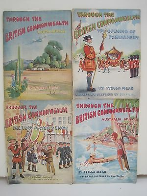 Through The British Commonwealth Books by Stella Mead, Lot of 4 Books