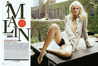 MALIN AKERMAN  (upskirt)  --  2009 Magazine Article Pictures Clipping   vg